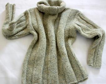 Hand knit organic jumper