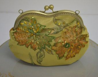 Yellow Clutch, Evening Clutch Purses, BRIDAL CLUTCH, Gift to mom.