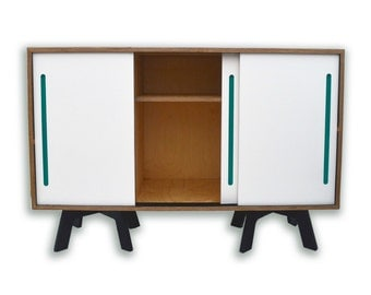 Sale,sale RETRO SIDEBOARD, Mid Century Modern Storage Cabinet, Sliding Doors, Scandinavian Furniture