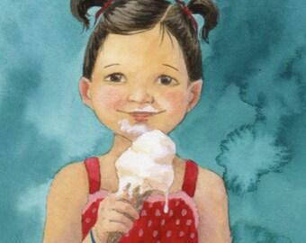 Ice Cream Girl - Original Painting