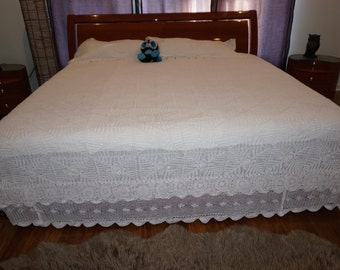 King Bed Sheet and Pillow Cases (two)- White