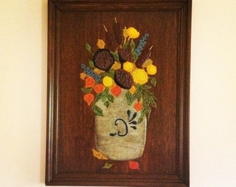 Vintage Folk Art Painting