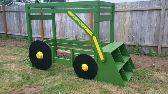Items Similar To John Deere Tractor Bed Toddler Bed Bunk