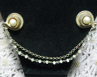 Vintage Gold Tone Sweater Clip
