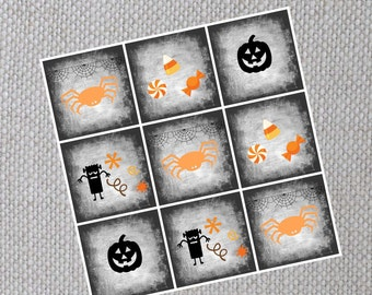 Printable Halloween Cupcake Toppers and Tags