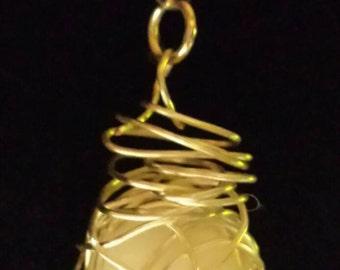 Caged Bead Pendant