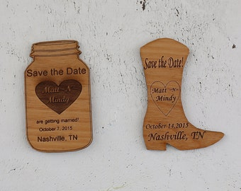 Save the Date magnets- Wood