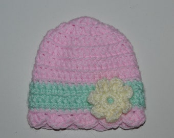 Baby Scalloped Flower Hat