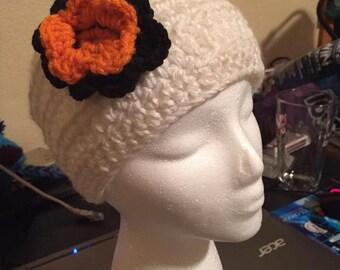 Earwarmer w/ Multi-Colored Flower