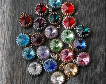 Add a Charm, Birthstone Charm, Birthstone Pendant, Swarovski charm, Swarovski pendant, Swarovski crystal birthstone charm, Add a birthstone