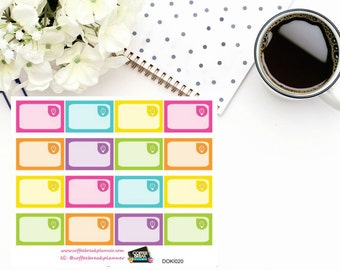 Light Bulb Assorted Rainbow Colored 1/3 boxes for Doki Discagenda| Planner Stickers| Dokibook Discagenda| Personal Planner| DOKI020