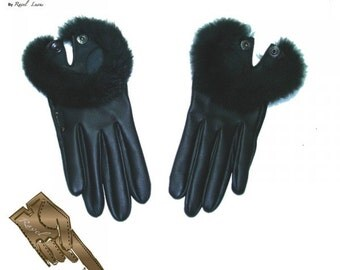 Ladies Leather Gloves (S622014)