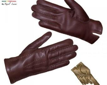 Men Leather Gloves (H182013)