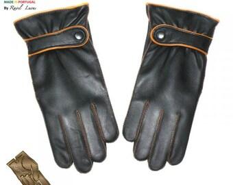 Men Leather Gloves (H382014)