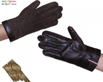 Men Shearling Sheepskin Gloves (HB62013)