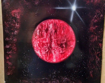Red Planet Spray Paint Art