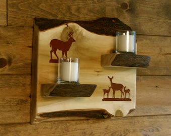 Deer Family Wall Sconce