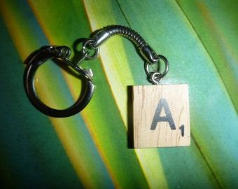 Scrabble Keyring art Keychain Custom Unique gift ''Choose Your Letter - FREE POST