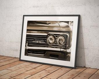 Sepia Chevrolet Impala Fine Art Print - Car Art, Antique Car, Home Decor, Chevy, Classic Car, Wall Art, Vintage Car  - Digital or Print