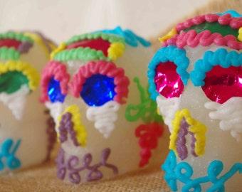 Broche argent e cam e mexican sugar skulls calavera gypsy for Chambre de sucre gourmet artisanal sugars