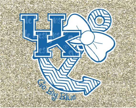 Uk Basketball Logo: Go Big Blue University Of Kentucky Wildcats Logo By