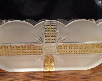 "6 Antique Rare Dalzell Gilmore Klondike  4"" serving bowls EAPG"
