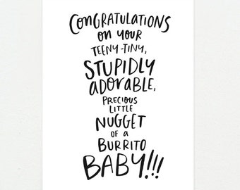Funny Baby: Congrats On Your...Burrito Baby!