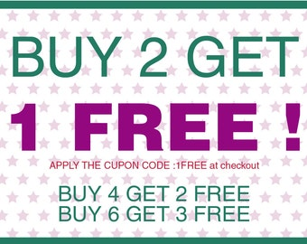 Buy 2 get 1 free. Apply the cupon code: ONEFREE.