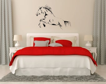 Horse Wall Decal, Mustang Vinyl Sticker, Stallion Horse Decal, Horse Wall  Decor,