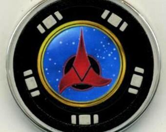 Klingon Symbol poker chip card guard - Star Trek card protector - Enterprise