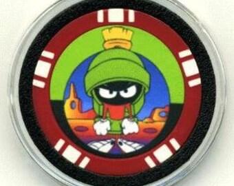 Marvin the Martian poker chip card guard - Martian card protector