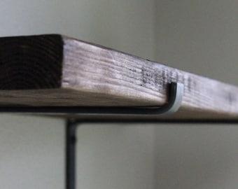 """Steel Shelf Bracket with Lip, 11.25"""" or 11.5"""" Heavy Duty Shelving Brackets, Industrial Bracket, Black Metal Brackets for Shelves"""