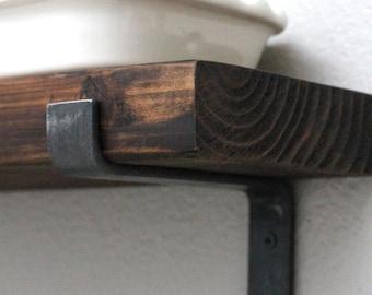 Iron Shelf Bracket with Lip, Open Shelving Hardware