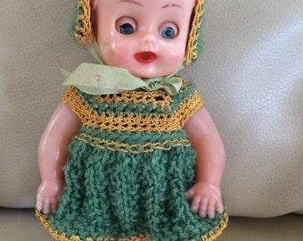 Rosebud doll - 1940s doll - plastic doll - kitsch doll - hong kong toy - kitsch 40s toy