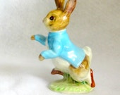 Beatrix Potter Figurine Peter Rabbit  BP2a Excellent Condition Mid to Late 1950s