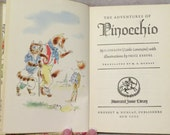The Adventures of Pinocchio, Special 1946 Edition, by C. Colloidi (Carlo Lorenzini), Junior Library Children's Literature
