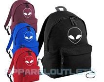 alien backpack bag ufo swag dope hipster tumblr fashion trend facedown school travel pe sports bag p.e rucksack film album tour fan unisex