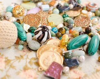 GRAB BAG - Bead + Pendant Supply MYSTERY Surprise / 60-80 Pieces / 4oz