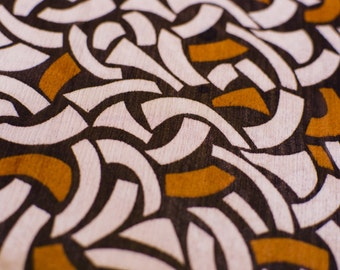 1yd x 56'' Brown/Orange/Creme Flowy Sheer Crinkle Fashion Fabric / 100% PES / by the yard