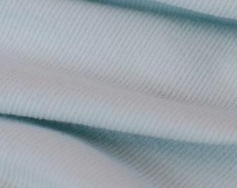 1yd x 52'' Mint Super Soft Medium Weight Jersey Knit Rib Fashion Fabric / 94/6 Cotton/LY / by the yard