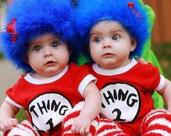 Thing 1 Thing 2 fuzzy costume hat!