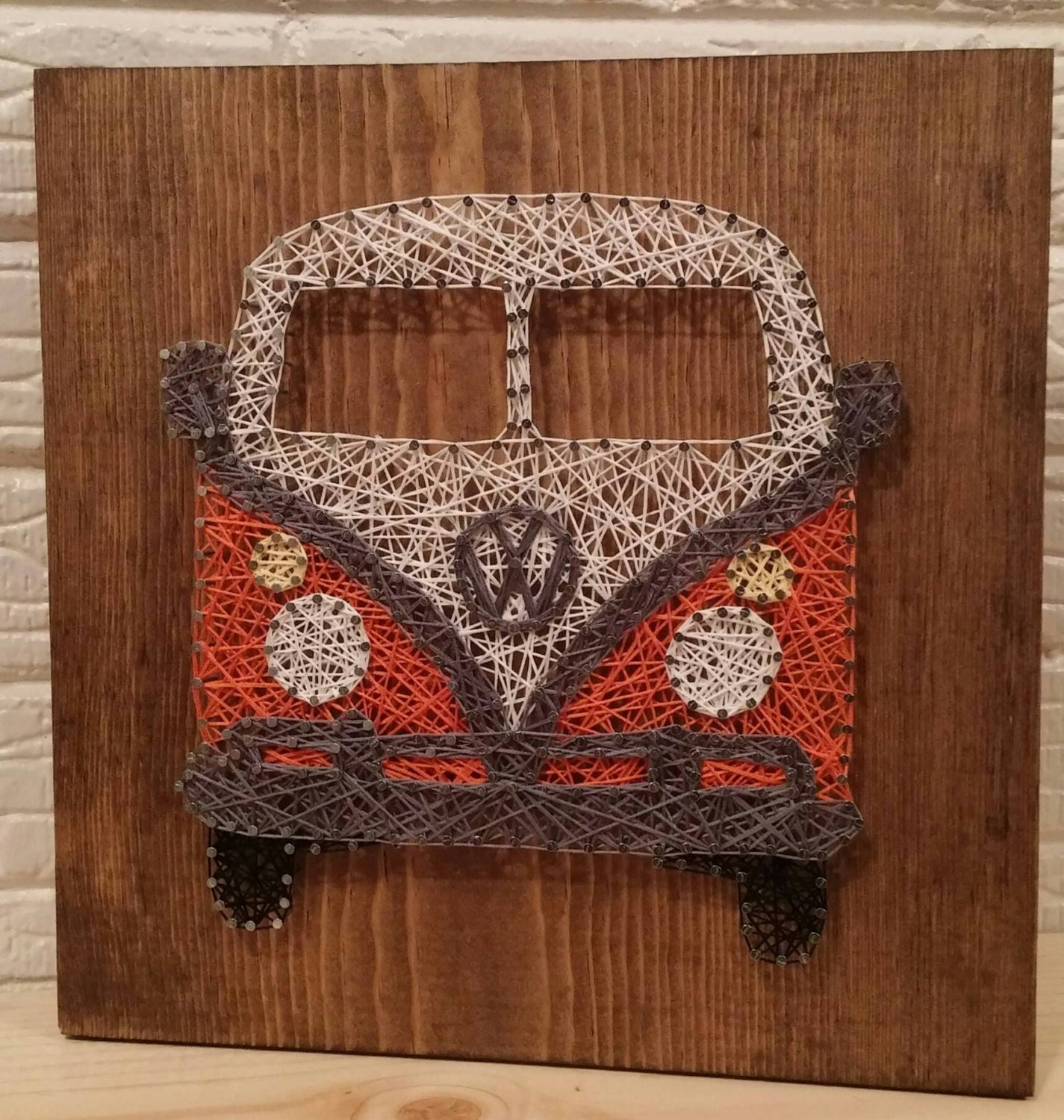 vw bus string art retro bus volkswagen wall art by asherthing. Black Bedroom Furniture Sets. Home Design Ideas