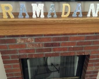 Ramadan Wooden Letter Decor