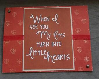 Love struck card