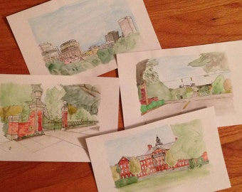 University of South Carolina Watercolor Sketches (Framed)