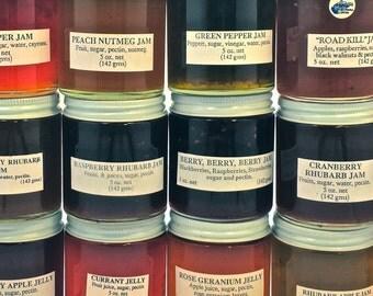 Artisan Jams, Jellies, Butters, Marmalades