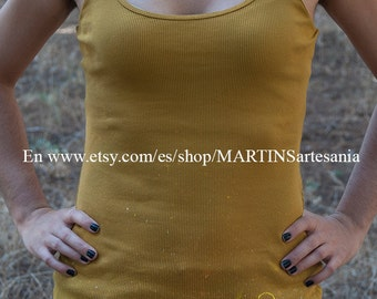 Tank top mustard yellow color