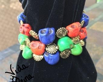 Color Skull Bracelet Set of 3