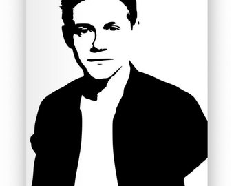 Niall Horan. Mirror hand engraved, sandblasted and coloured spray.