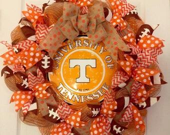 University of Tennessee Wreath, Vols Wreath, UT Wreath, Tennessee Vols Wreath, Go Vols Decor, Tennessee Football Wreath, Orange Wreath